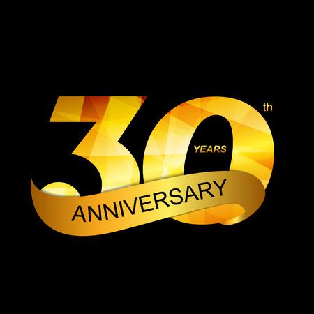 30th: Template Logo 30th Anniversary