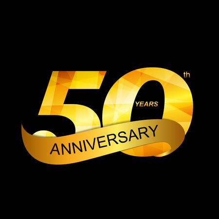Modelo de la insignia 50 Aniversario Foto de archivo - 48404729
