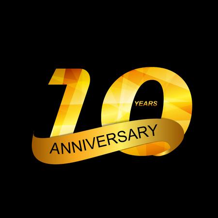 selebration: Template Logo 10th Anniversary  Illustration