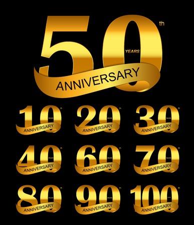 Template Logo Set Anniversary