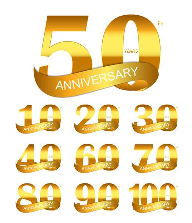 ten years jubilee: Template Logo Set Anniversary