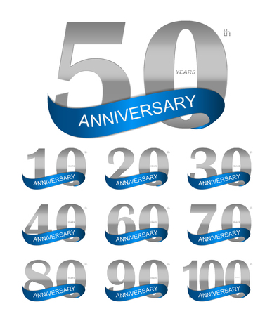selebration: Template Logo Set Anniversary