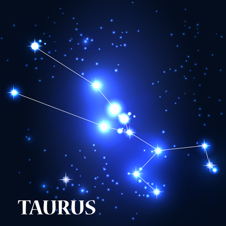 Symbol. Taurus Zodiac Sign.  Çizim