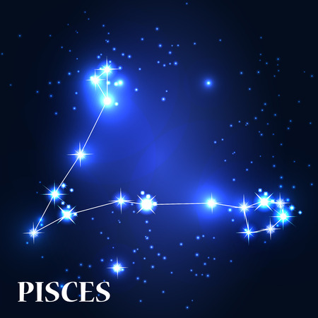 number twelve: Symbol. Pisces Zodiac Sign.