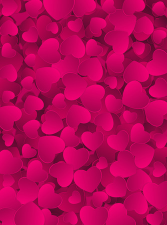 small group of object: Happy Valentines Day Heart Card Background