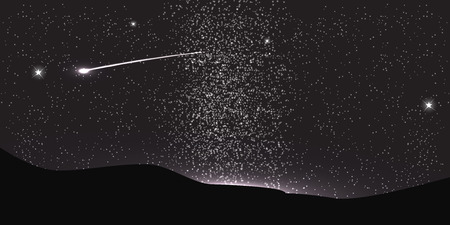 fly around: Comet Fly Around the Planet in Space. Vector Illustration. EPS10