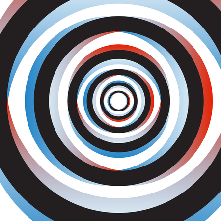 concentric circles: Colorful Abstract Psychedelic Art Background. Vector Illustration. EPS10