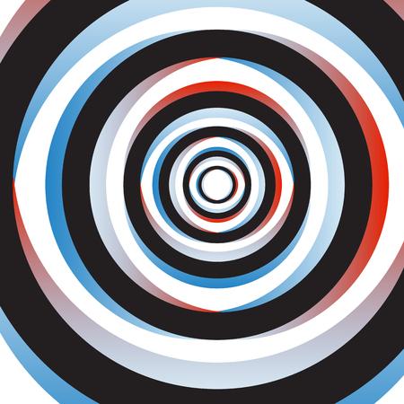 circulos concentricos: Colorido Resumen Antecedentes arte psicodélico. Ilustración del vector. EPS10