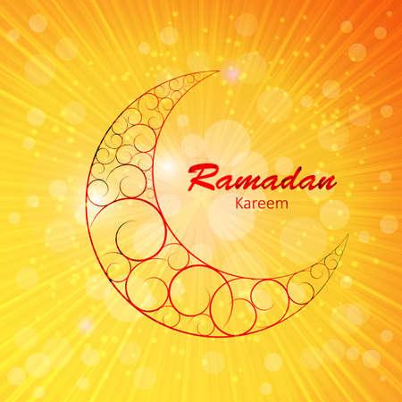 namaz: Moon Background for Muslim Community Festival Vector Illustration EPS10 Stock Photo