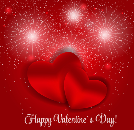 small group of object: Happy Valentines Day Card with Heart. Vector Illustration. EPS10