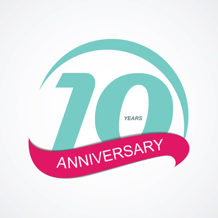 10: Template  10 Anniversary Vector Illustration
