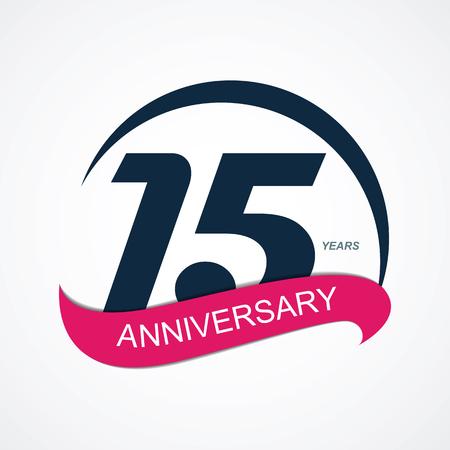 15: Template  15 Anniversary Vector Illustration  Illustration