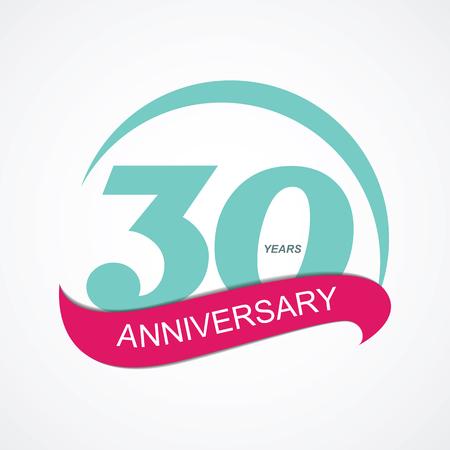 selebration: Template  30 Anniversary Vector Illustration