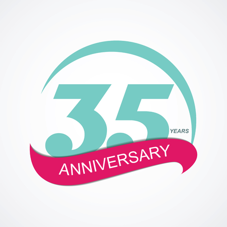 selebration: Template Logo 35 Anniversary Vector Illustration EPS10
