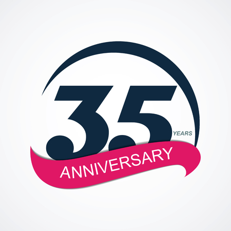 35: Template  35 Anniversary Vector Illustration
