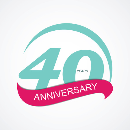 40: Template  40 Anniversary Vector Illustration