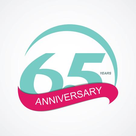 65: Template  65 Anniversary Vector Illustration