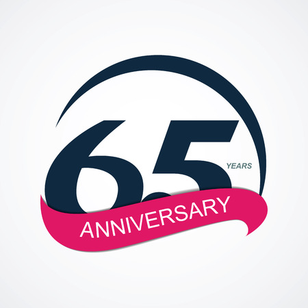 65: Template  65 Anniversary Vector Illustration