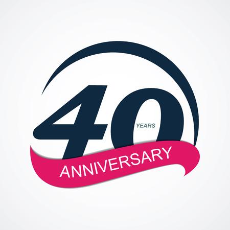 40: Template  40 Anniversary Vector Illustration