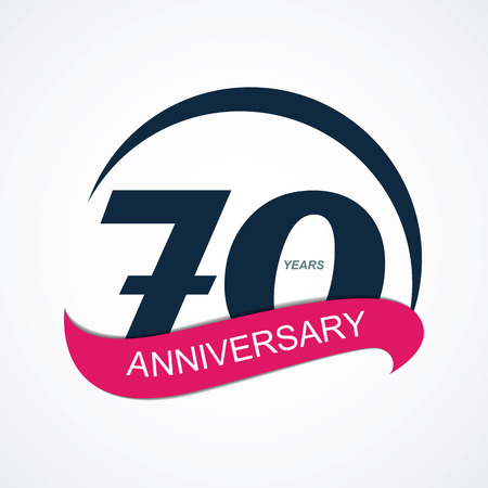 selebration: Template  70 Anniversary Vector Illustration  Illustration
