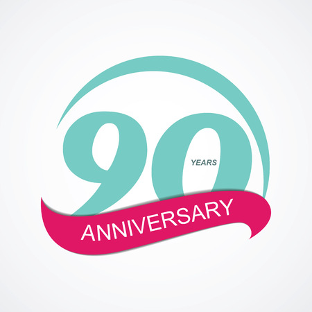 90: Template  90 Anniversary Vector Illustration