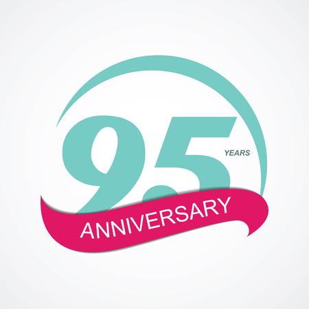95: Template  95 Anniversary Vector Illustration