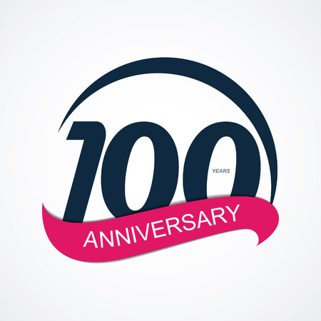 selebration: Template Logo 100 Anniversary Vector Illustration EPS10 Illustration