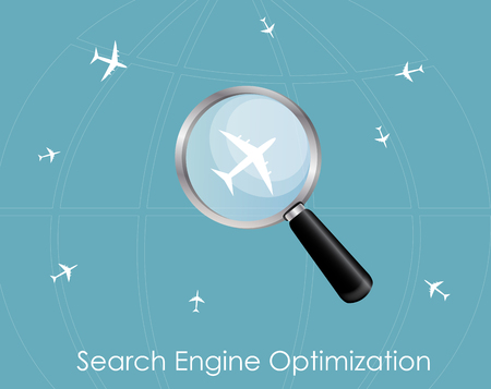 semantic: SEO - Search Engine Optimization Flat Icon Vector Illustration.