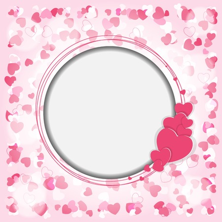 small group of objects: Happy Valentines Day Card. Vector Illustration. EPS10