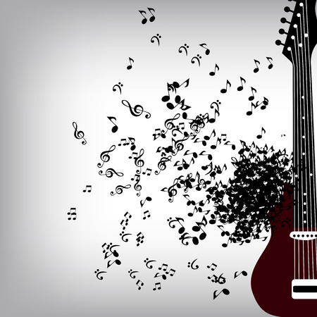 abstract music: Abstract Music Background Vector Illustration for Your Design EPS10