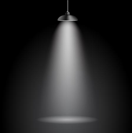 Achtergrond met verlichting lamp. Lege ruimte voor uw tekst of het object. EPS10 Stock Illustratie