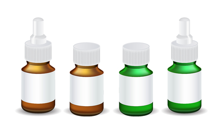 Isolated Medical Bottle Template Vector Illustration EPS10