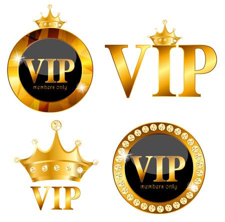 VIP Members Card on Black Background. Vector Illustration EPS10