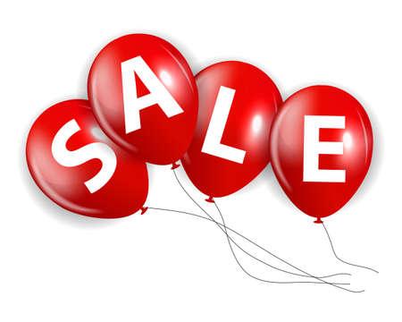 red balloon: Sale Red Balloon Sign Vector Illustration EPS10 Illustration