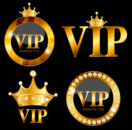 high society: VIP Members Card on Black Background. Vector Illustration EPS10 Illustration