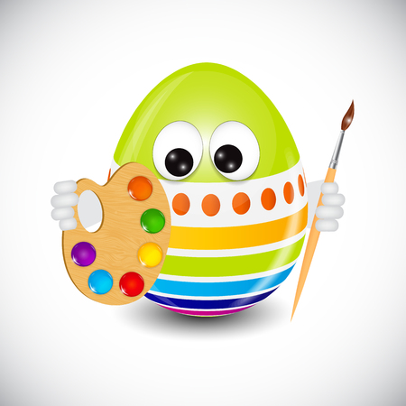 psyche: Beautiful Easter Egg Background Vector Illustration EPS10