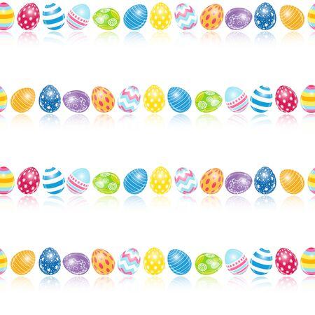 pasqua: Beautiful Easter Egg Seamless Pattern Background Vector Illustration EPS10