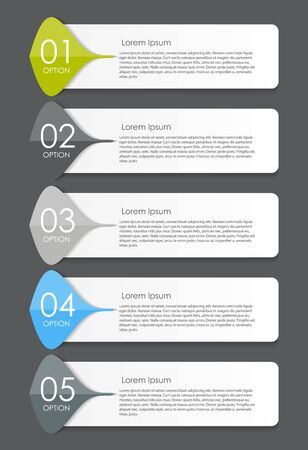 set template: Infographic Design Elements for Your Business Vector Illustration. EPS10