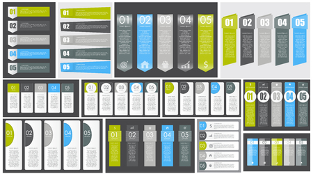 Big Set of Infographic Banner Templates for Your Business Vector Illustration Vetores