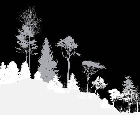 Imagen de la naturaleza. Silueta de árbol Eco banner. Ilustración vectorial EPS10