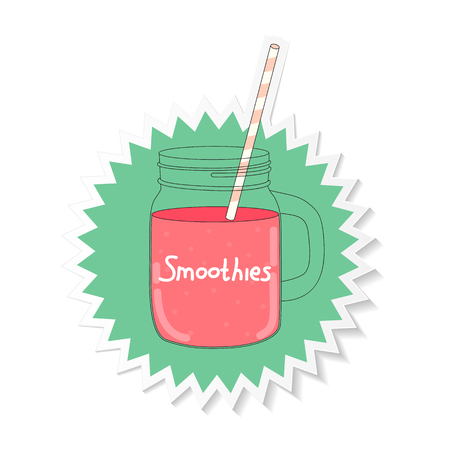 old fashioned vegetables: Fresh Smoothie. Healthy Food. Vector Illustration EPS10