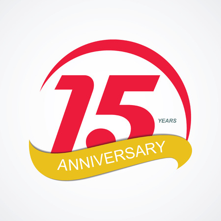 selebration: Template Logo 15 Anniversary Vector Illustration EPS10
