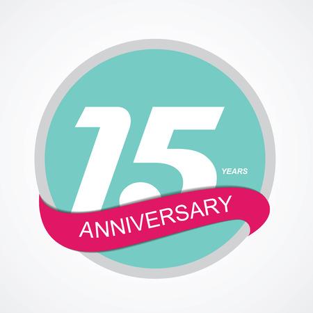 15: Template Logo 15 Anniversary Vector Illustration EPS10