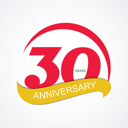 commemoration: Template Logo 30 Anniversary Vector Illustration EPS10 Illustration