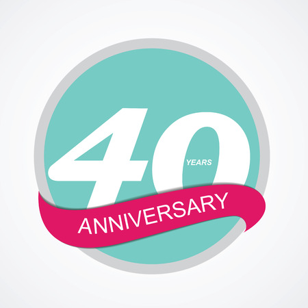 remembered: Template Logo 40 Anniversary Vector Illustration EPS10 Illustration
