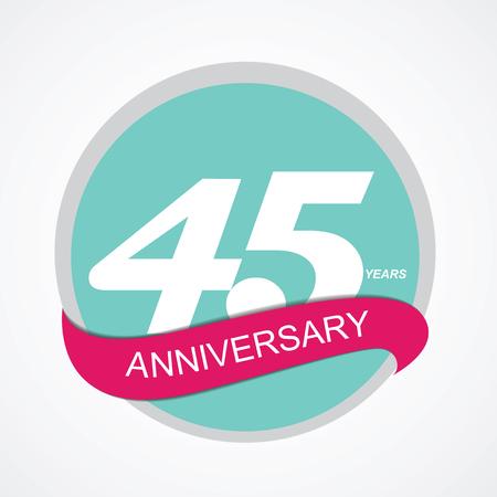 commemoration: Template Logo 45 Anniversary Vector Illustration EPS10 Illustration