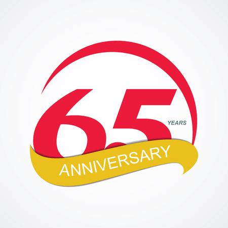 65: Template Logo 65 Anniversary Vector Illustration EPS10