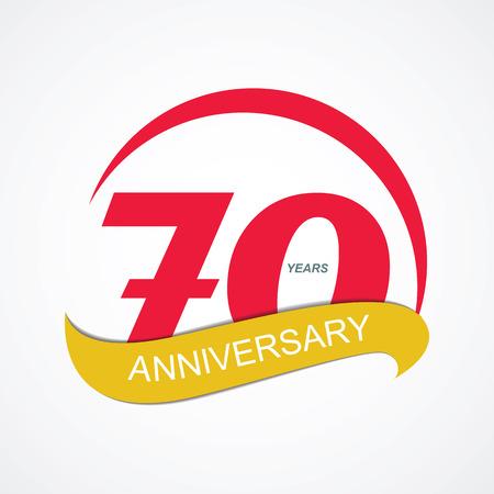 70: Template Logo 70 Anniversary Vector Illustration EPS10 Illustration