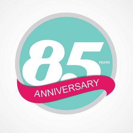selebration: Template Logo 85 Anniversary Vector Illustration EPS10