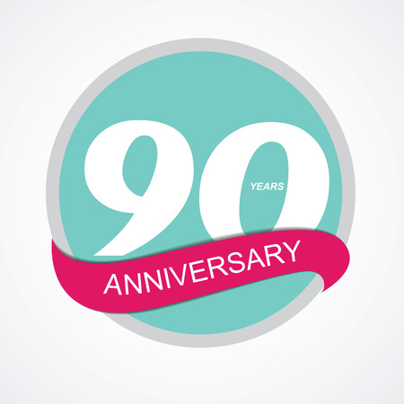 90: Template Logo 90 Anniversary Vector Illustration EPS10